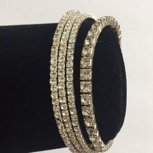 2pcs Vintage Rhinestone Bling Bling Bracelets